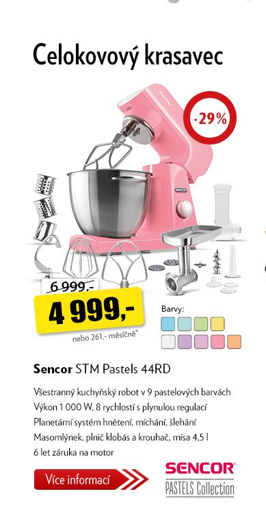 Celokovový kuchyňský robot Sencor STM Pastels 44RD