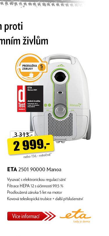 Vysavač ETA 2501 90000 Manoa