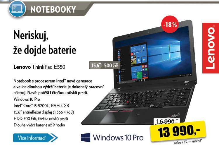 Notebook Lenovo Think Pad E550