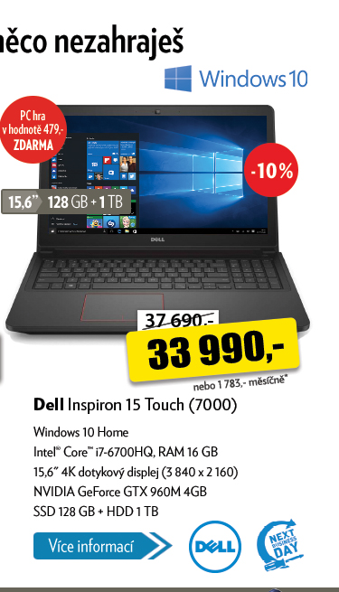 Notebook Dell Inspiron 15 Touch