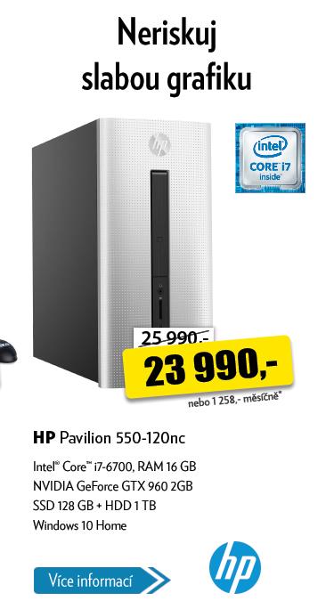 Počítač HP Pavilon 550-120nc