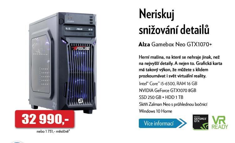 Počítač Alza Gamebox Neo GTX1070+