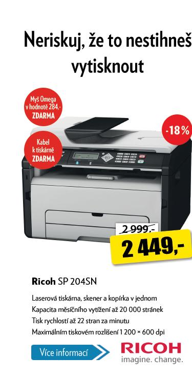 Laserová tiskárna Ricoh SP 204SN