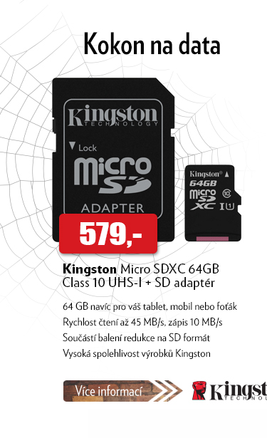 Kingston Micro SDXC 64GB Class 10