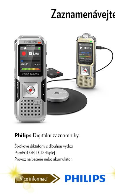 Digitální záznamníky Philips