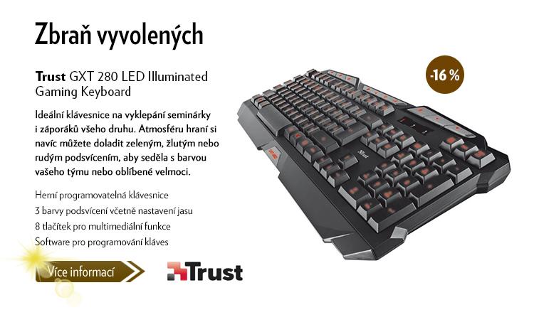 Klávesnice Trust GXT LED Iluminated Gaming