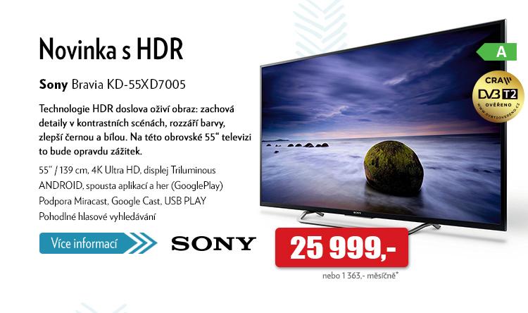 "televize 55"" Sony Bravia KD-55XD7005"