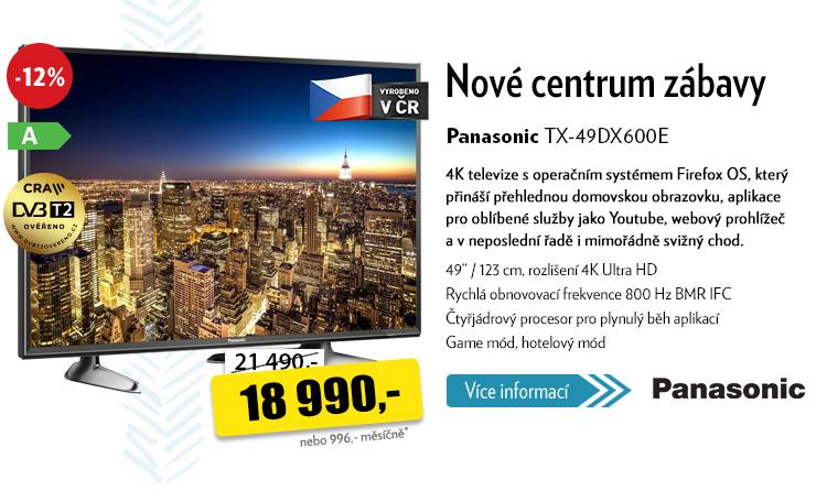 """televize 49"""" Panasonic TX-49DX600E"""