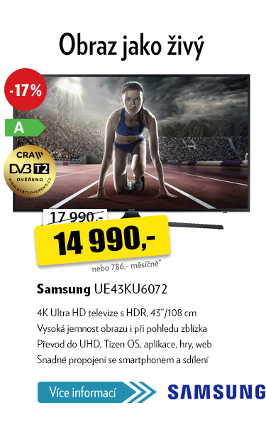 "televize 43"" Samsung UE43KU6072"