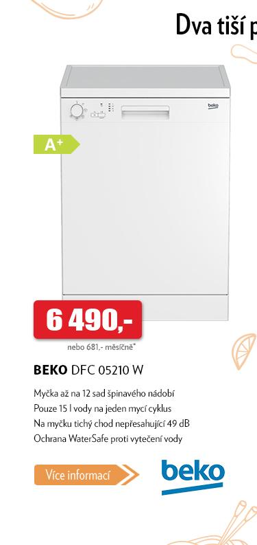 Myčka Beko DFC 05210 W