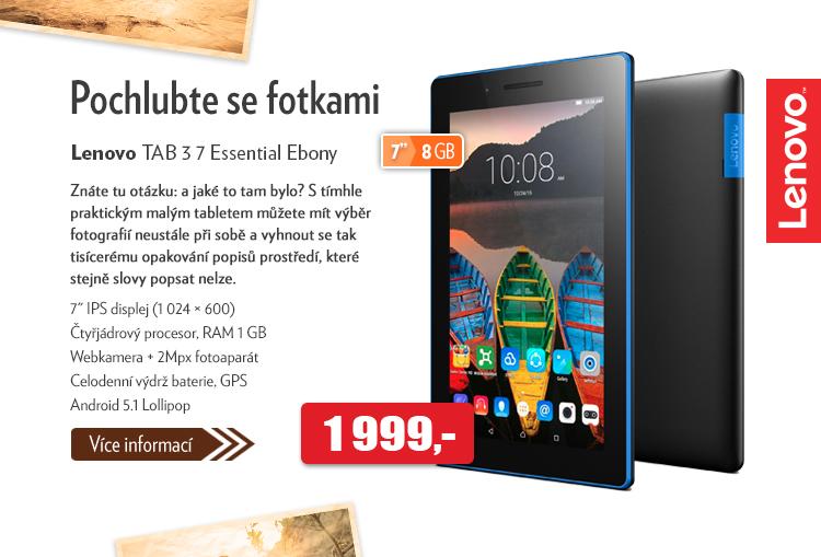 Tablet Lenovo TAB 3 7 Essential Ebony