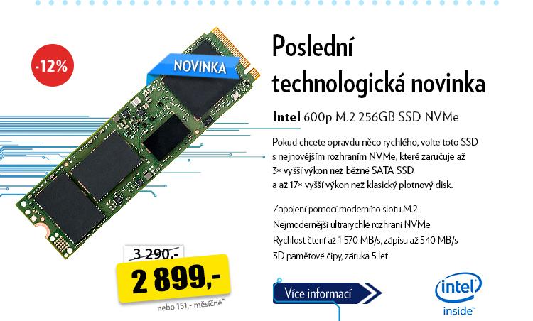 Intel 600p M.2 256GB SSD NV Me