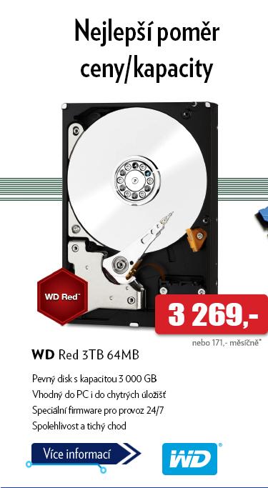 Pevný disk WD Red 3TB 64MB