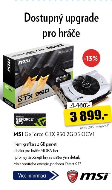 MSI GeForce GTX 950 2GD5 OCV1