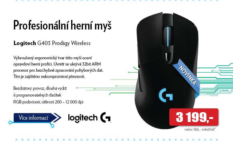 Myš Logitech G403 Prodigy Wireless