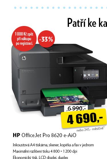 Tiskárna HP OfficeJet Pro 8620 e-AiO