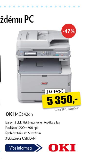 Tiskárna OKI MC342dn