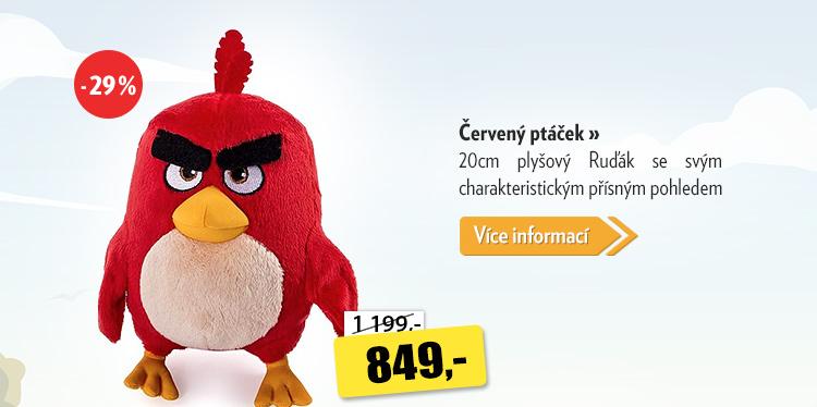 Angry Birds Červený ptáček plyšový