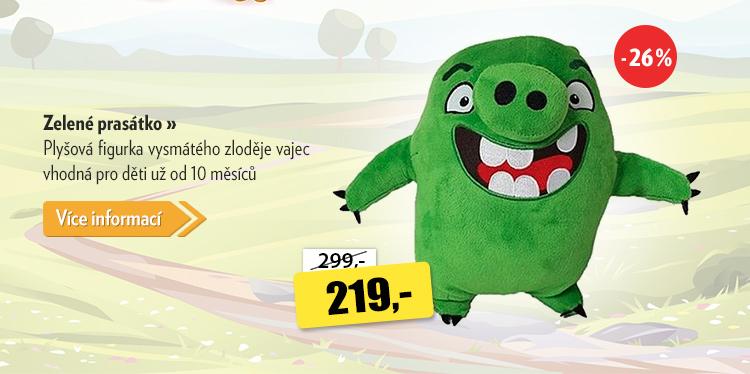 Angry Birds Zelené prasátko plyšové