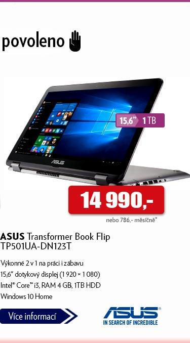 Notebook ASUS Transformer Book Flip TP501UA-DN123T