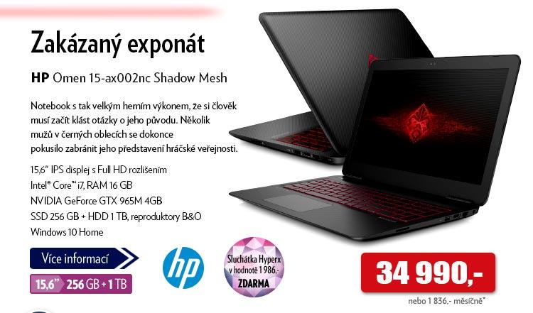Notebook HP Omen 15-ax002nc Shadow Mesh