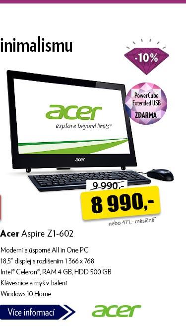Notebook Acer Aspire Z1-602