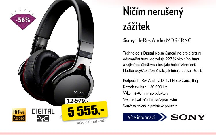 Sluchátka Sony Hi-Res Audio MDR-1RNC