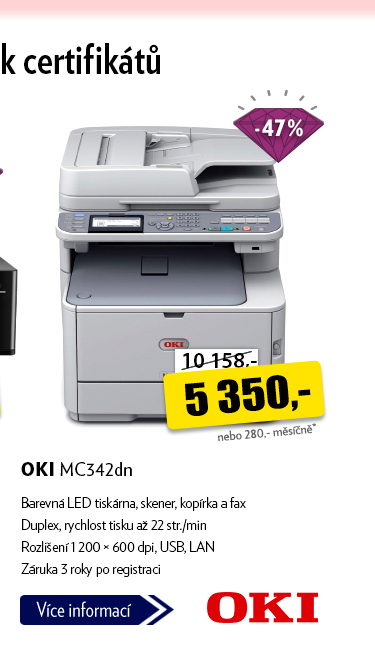 LED tiskárna OKI MC342dn