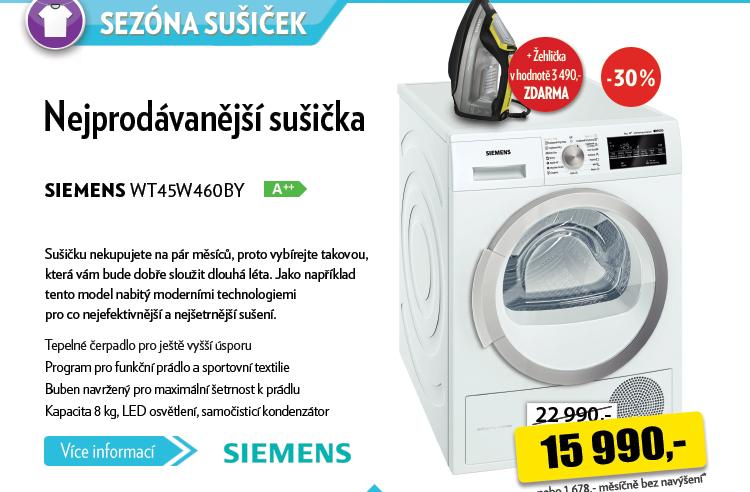 Sušička Siemens WT45W460BY