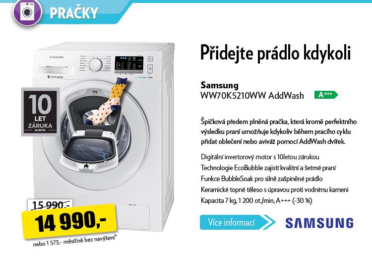 Pračka Samsung WW70K5210WW AddWash