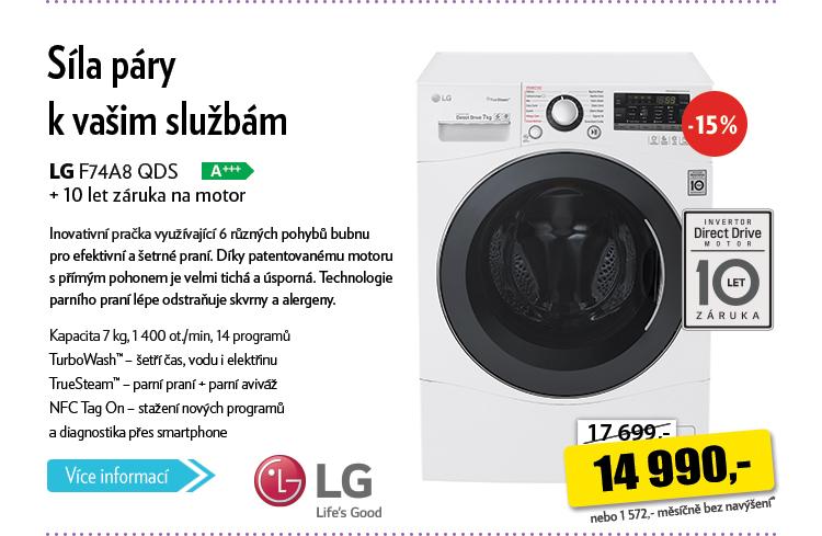 Pračka LG F74A8 QDS