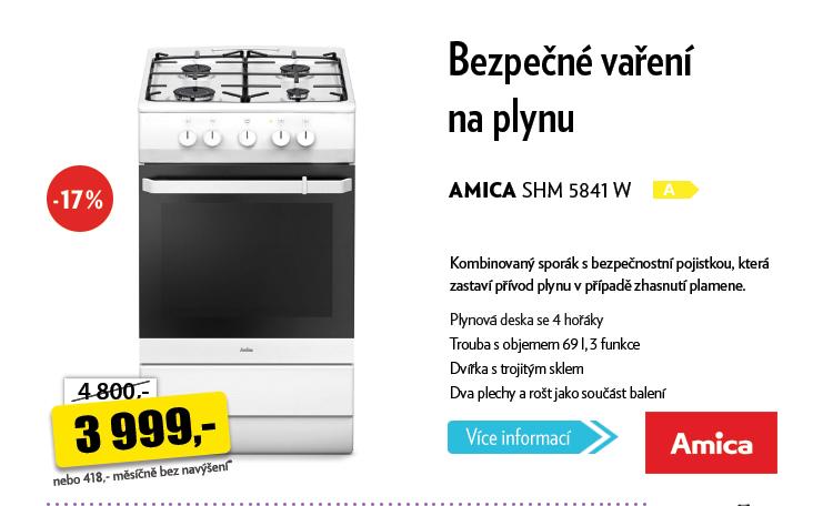 Sporák Amica SHM 5841 W