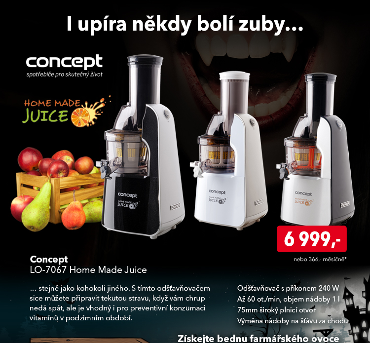 Odšťavňovač Concept LO-7067 Home Made Juice
