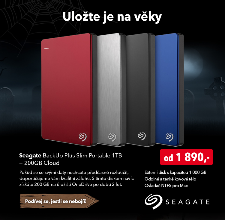 Externí disk Seagate BackUp Plus Slim Portable 1TB