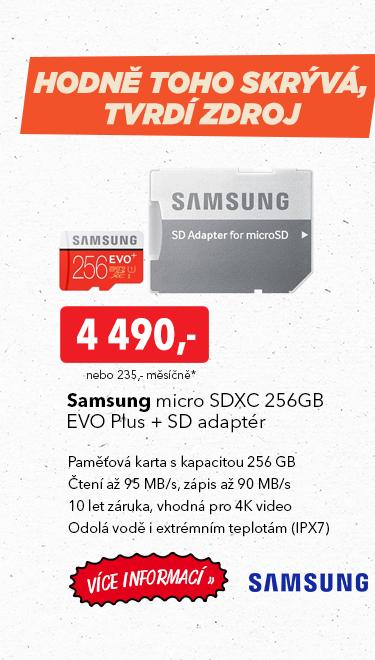 Paměťová karta Smasung micro SDXC 256GB