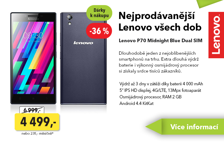 Smartphone Lenovo P70 Midnight Blue