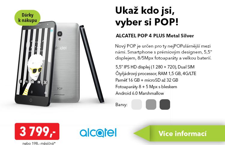 Smartphone Alcatel Pop 4 Plus Metal Silver