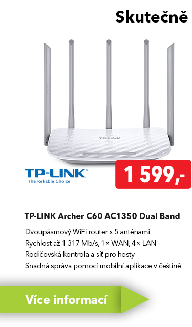 WiFI router TP-Link Archer C60 AC1350 Dual Band