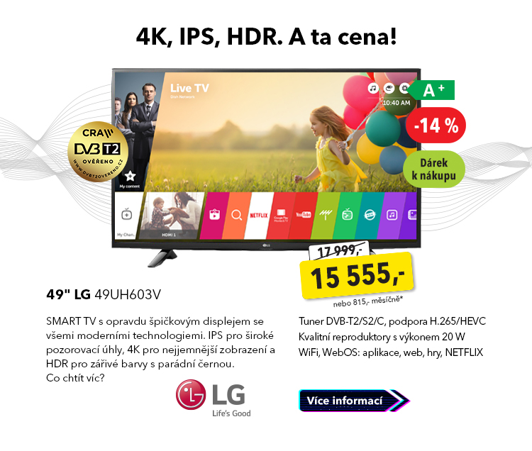 "Smart TV 49"" LG 49UH603V"