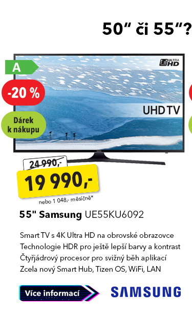 "Smart TV 55"" Samsung UE55KU6092"
