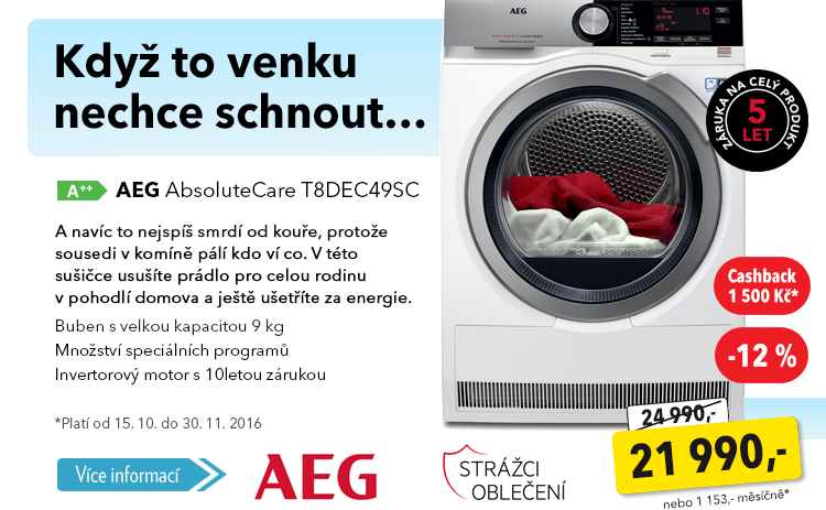Sušička AEG AbsoluteCare T8DEC49SC