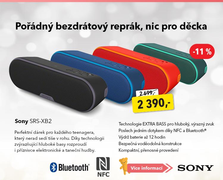 Bezdrátový reproduktor Sony SRS-XB2