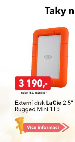 "Externí disk LaCie 2.5"" Rugged Mini 1TB"