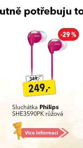 Sluchátka Philips SHE3590PK