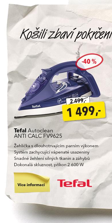 Žehlička Tefal Autoclean Anti Calc FV9625
