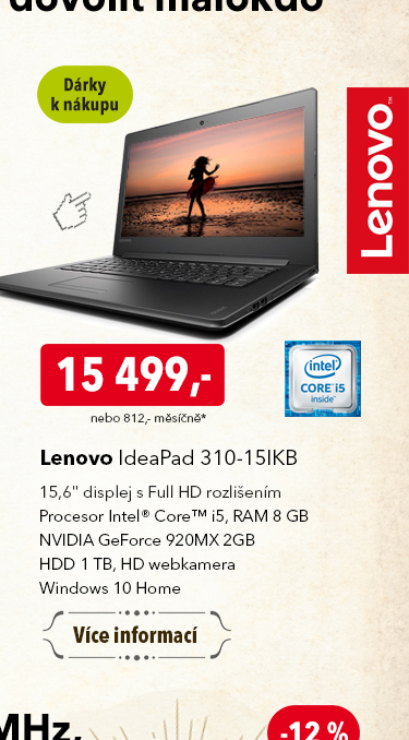 Notebook Lenovo IdeaPad 310-15IKB