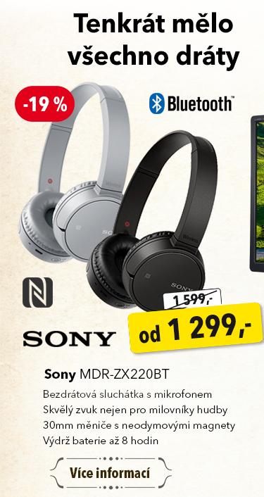 Sluchátka Sony MDR-ZX220BT