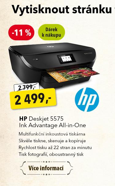 Tiskárna HP Deskjet 5575 Ink Advantage All-in-One