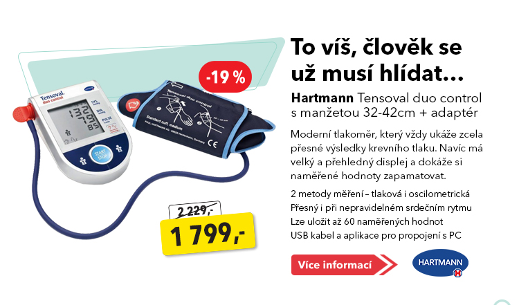 Tlakoměr Hartmann Tensoval duo control