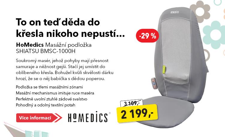 HoMedic masážní podložka Shiatsu BMSC-1000H